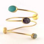 Spiral Bangle Bracelet