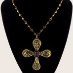 Byzantine Cross Pendant Necklace