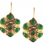 Ottoman Green Jade Florette Earrings
