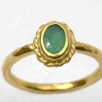 Green Jade – Greek Rope Ring