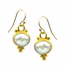 Byzantine Sun Pearl Earrings