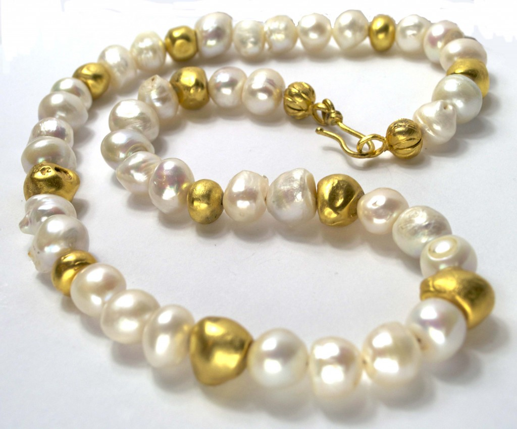 """Sun Pearl"" Necklace"
