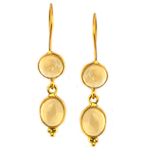 Citrine Earrings – Silver Plated in 18kt gold