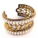 Ottoman Double Strand Pearl Cuff