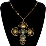 Byzantine Filigree Cross Necklace