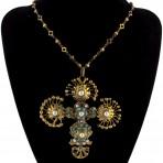 Byzantine Filigree Cross Necklace