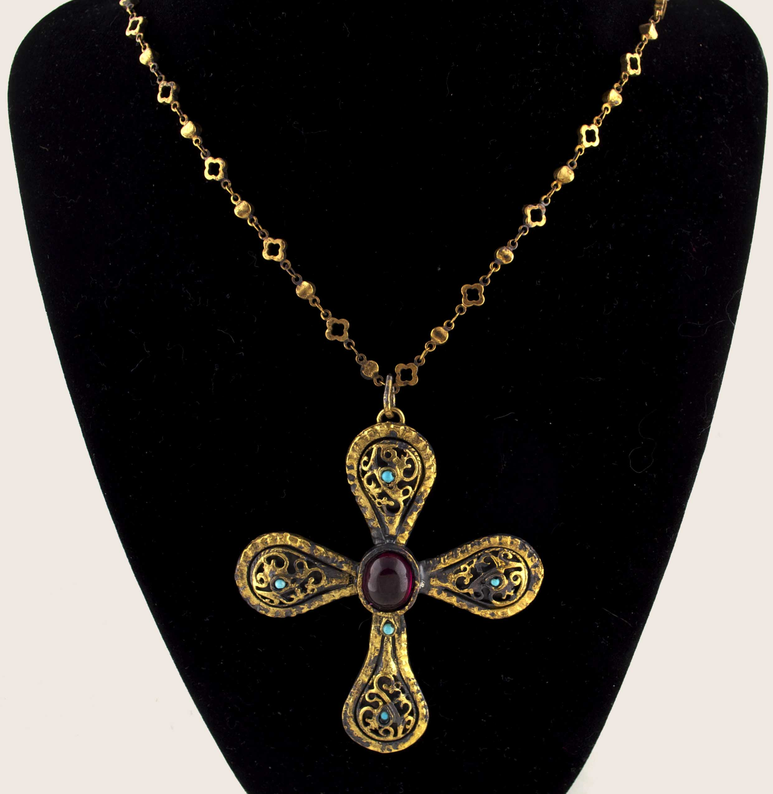 Byzantine cross pendant necklace arabella concepts mozeypictures Image collections