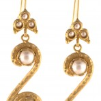 Ottoman Spiral Freshwater Pearl Earrings