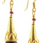 Sapphire Briolette Gold-Plated Earrings