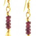 Ruby Leo Briolette Gold-Plated Earrings