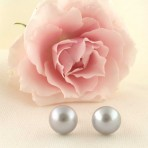 Silver Freshwater Pearl Earrings – 12mm
