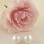 White Freshwater Pearl Earrings – 12mm