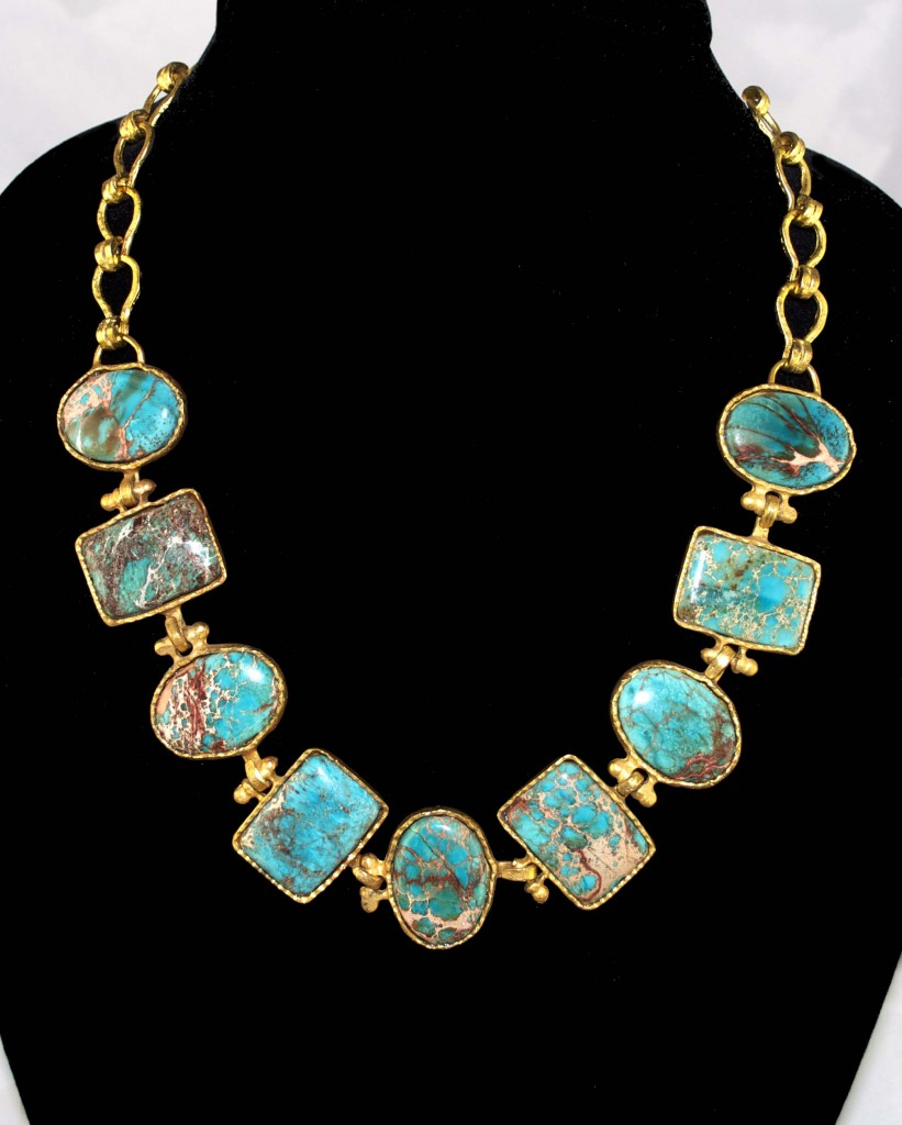 Turquoise Map Necklace 2