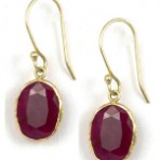 Ruby Sun Earrings – 14kt Gold