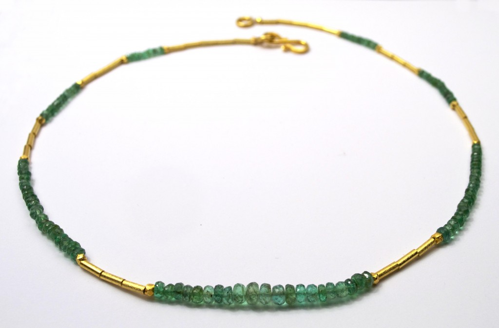 Emerald Necklace 18 inch