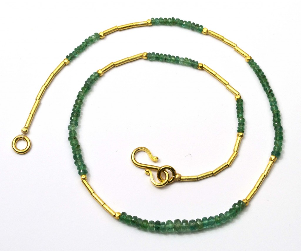 Emerald Necklace 18 inch III