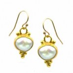 Byzantine Sun Pearl Earrings