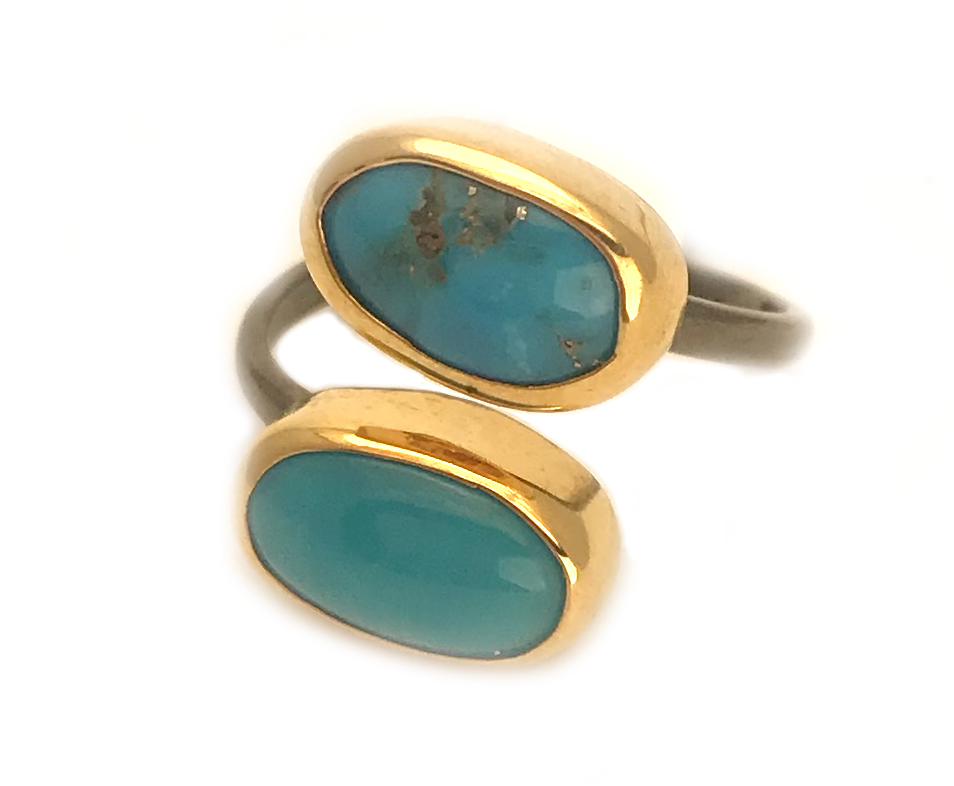 Persian Turquoise Silver Ring – Adjustable