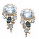 Imperial Blue Topaz Earrings – Sky Blue Topaz, London Blue Topaz, Swiss Blue Topaz