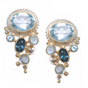Imperial Blue Topaz Earrings – Sky Blue Topaz, London Blue Topaz, Swiss Blue Topaz