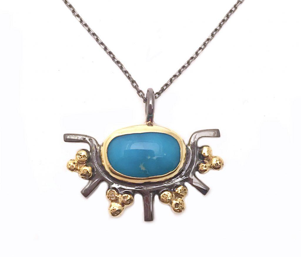 Persian Turquoise Sun Pendant