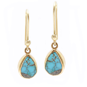 Petite Persian Turquoise Earrings