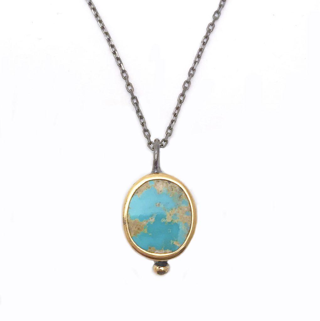 Petite Persian Turquoise Pendant