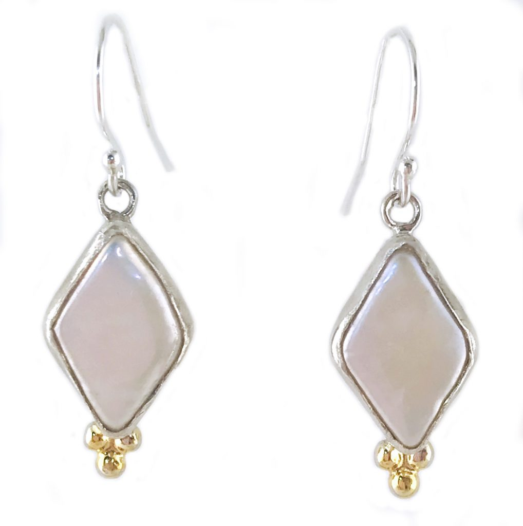 Marquise Silver Pearl Earrings
